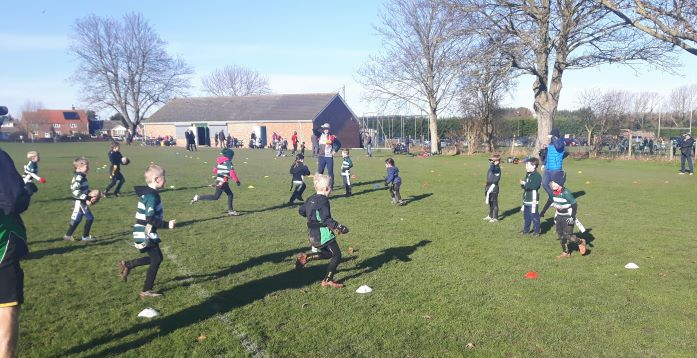 U7s and U8s Training Session - 3rd February 2019 - Ash Rugby Club Gallery